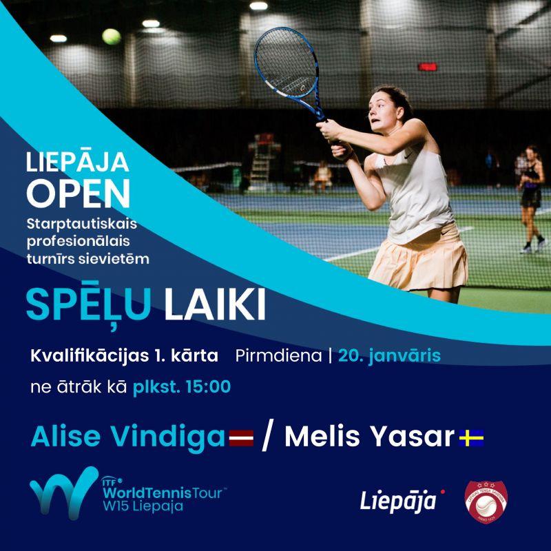 Liepājā sācies starptautiskais ITF tenisa turnīrs sievietēm